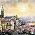 Watercolor Cityscape by www.shevchukart.com by Yuriy Shevchuk