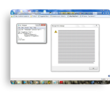 Javascript program: lol -(28/06/12)- screen printout Canvas Print