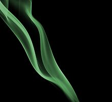 Smoky ribbon in green by SMCK