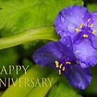 pretty blue pair anniversary card by dedmanshootn
