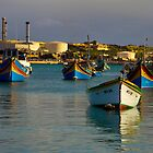 Marsaxlokk Boats  by Michelle Lia