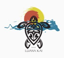 Tribal Turtle Sunset / Luana Kai Maui by Susan R. Wacker