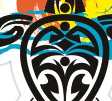 Tribal Turtle Sunset / Luana Kai Maui Sticker