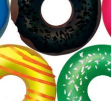 Doughnut rings Sticker