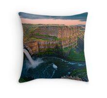 Palouse Falls Sunset Throw Pillow