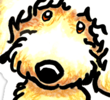 Yellow Labradoodle :: It's All About Me Sticker