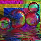 Bubble Abstract by Kelly Rockett-Safford