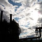 Gas Works Park Silhouette by YogiColleen