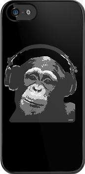 DJ MONKEY - black by WAMTEES