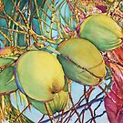 Coconuts at Sunset by Christiane  Kingsley