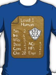 Level 1 - Human [only for Nerd Babies] -Original Colors T-Shirt