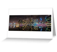 Melbourne's Docklands Harbour by Night Greeting Card