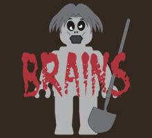 "Zombie Minifig ""BRAINS"" by Customize My Minifig by ChilleeW"