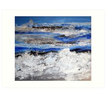 To paint the sea... Art Print
