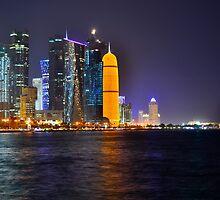 Doha - Rainbow skyline by emmawind