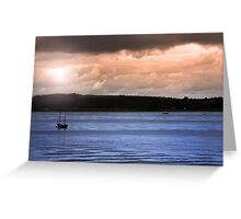 youghal boats at dusk Greeting Card