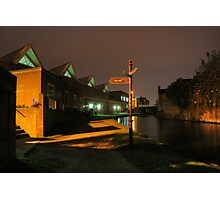 Canal and Tesco, Kidderminster Photographic Print