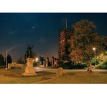 St Mary's Church and war memorial, Kidderminster Photographic Print