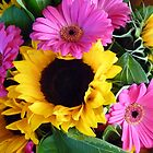 Sunflower and Gerbera bouquet by mrsmcvitty