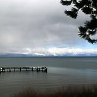 A Threatening Day at Lake Tahoe by Maurine Huang