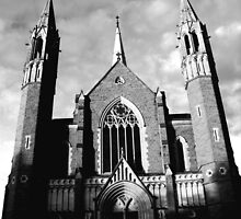 Sacred Heart Cathedral, Bendigo. B&W by Matthew Sims