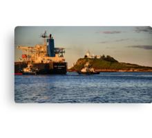 NSS GRANDEUR CARGO SHIP - NEWCASTLE HARBOUR NSW AUSTRALIA Canvas Print