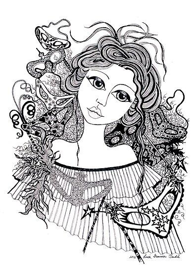 Masquerade by Lisa Frances Judd~QuirkyHappyArt