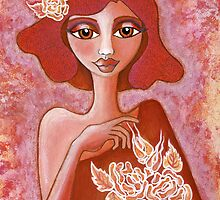 Kiss of a Rose ~ tone on tone bliss by Lisa Frances Judd ~ Original Australian Art