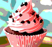 Chocolate Cupcakes with Pink Buttercream by taiche