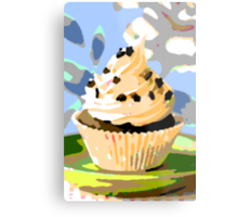 Chocolate Cupcakes with Vanilla Frosting Metal Print