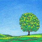 The Solitary Oak, Dormont Hill, Dumfriesshire by PennyArt