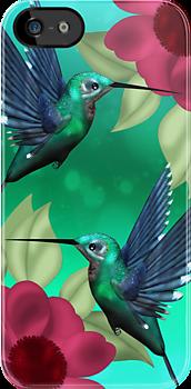 Humming Bird iPhone Case by Moonlake