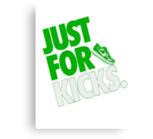 Just for kicks- Green Canvas Print