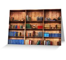 Book Shelf Greeting Card