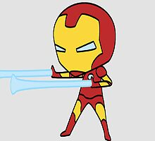 Teeny Tiny Iron Man by yearoftheyeti
