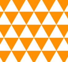 triangle waterfall (tangerine) Sticker
