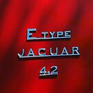 1965 Jaguar E Type Emblem by Jill Reger