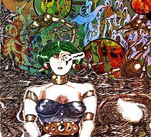 Mechanoid Planet [Colour Version] by Grant Wilson