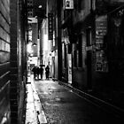 Tattersalls Lane - Winter, Raining, Melbourne by Megan Gardner