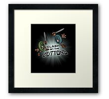 Clash of the BUTTONS Framed Print