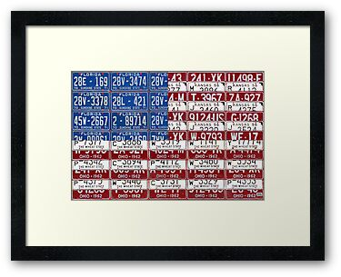 License Plate Flag of the United States 2012 by designturnpike