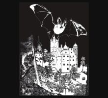 Dracula's Castle (Bran Castle in Romania) T-Shirt design by Dennis Melling