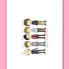 1D Cute Members Drawing iPhone/iPod Case (Vertical) by dream--catch3r