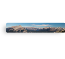 Canadian Rocky Mountain from Mount Sulfur Panorama Canvas Print
