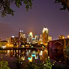 Downtown Minneapolis from St. Anthony Main by Jesus Diaz