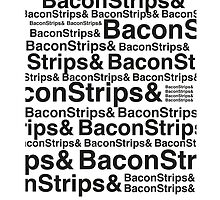 BACON STRIPS IPHONE COVER by fLeMo1