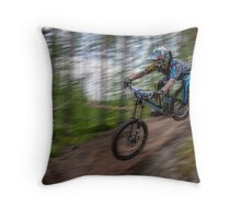 Downhill Race Throw Pillow