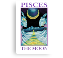 Astrology - Tarot. Pisces - The Moon Canvas Print