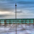 Rainy Redcliffe Pier in HDR by kmatm