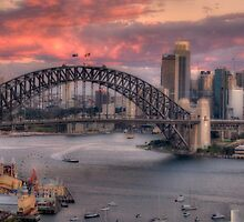 Diva Takes A Bow - Sydney Harbour Dawn - The HDR Experience by Philip Johnson